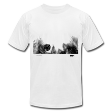 Leaves Stretched Unisex Jersey T-Shirt - white