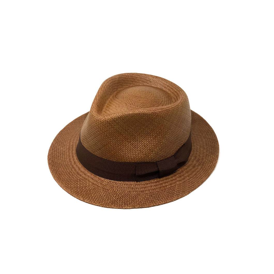 Tradicional Short Brim Chocolate Genuine Panama Hat