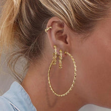 Load image into Gallery viewer, Luxe Star Mini Hoop Earrings