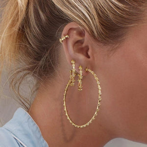 Luxe Star Mini Hoop Earrings