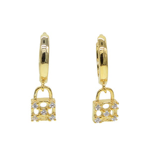 Devyn Dangle Padlock Earrings