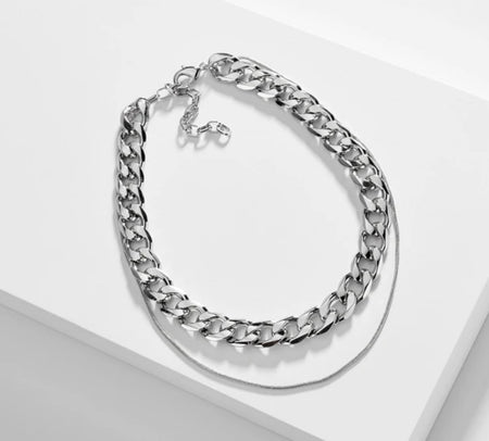 Keke Statement Silver Necklace