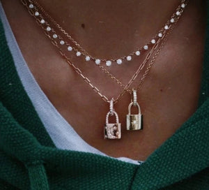 Elegant Uzo Padlock Necklace