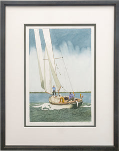 """A Rough Sea"" - Framed Etching by Frank Kaczmarek"