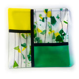 "9.5"" Square Fused Glass Tray"