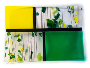 "15.5"" x 11""  Fused Glass Tray"
