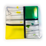 "7.5"" Square Fused Glass Tray"