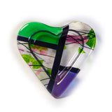 "Iridescent Heart Tray 6"" x 6'"