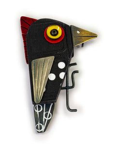 Spotted Woodpecker Pin