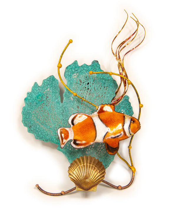 Anemone Fish with Sea Fans Wall Sculpture