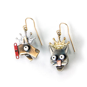 Raining Cats and Dogs Earrings