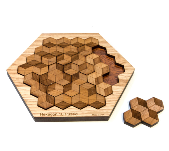 Hexagon 10 Wood Puzzle