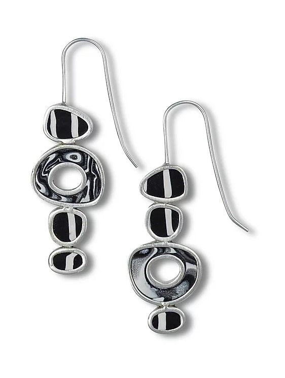 Four Stack Ovals Earrings