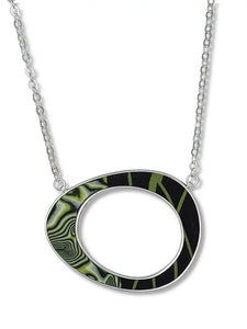 Large Oval Pendant - Green