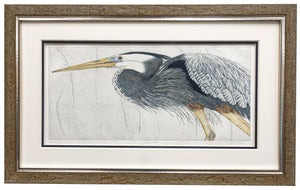 """Marsh Patrol"" - Framed Etching by Nancy Charles"