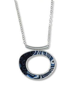 Medium Oval Pendant - Blue