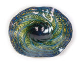 Fluted Bowl in Adventurine, Topaz and Black