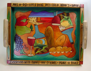 """Celebrate With Family"" tray by Sticks"