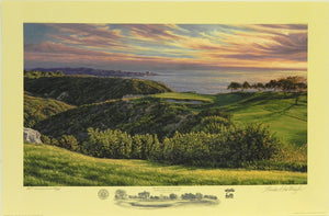 """The 3rd Hole, South Course,"" Torrey Pines Golf Course, San Diego, California"