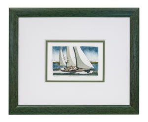"""The Cruiser"" - Framed Etching by Frank Kaczmarek"