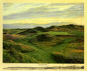 """The Postage Stamp"" 8th Hole at Royal Troon Golf Club, Troon, England"
