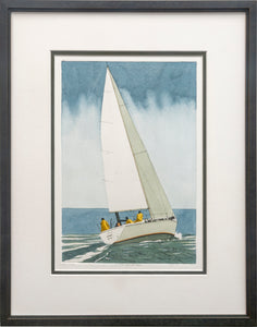 """The Yachtsman"" - Framed Etching by Frank Kaczmarek"