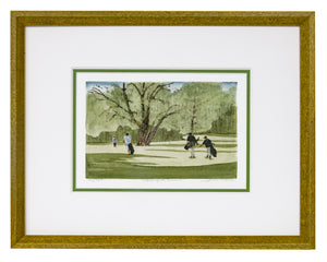 """Walking The Course"" - Framed Etching by Frank Kaczmarek"