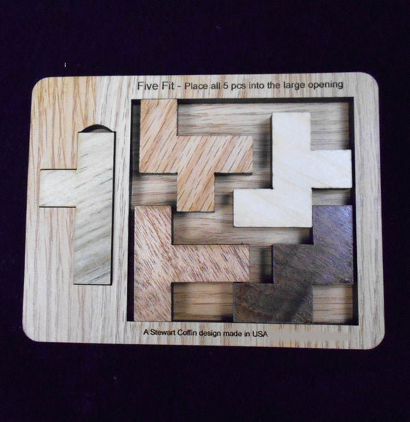 Fit Five Wood Puzzle