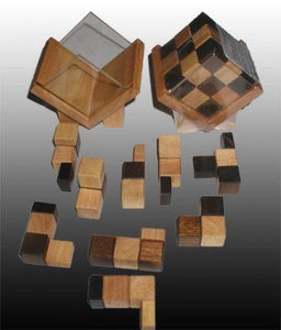 Splitting Headache Wooden Puzzle Cube