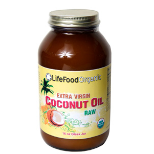 LifeFood Extra Virgin Raw Coconut Oil, 16 ounces