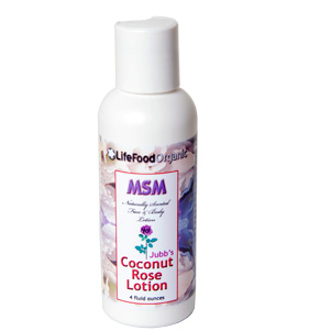 Annie Jubb's MSM Coconut Rose Lotion    4 ounces
