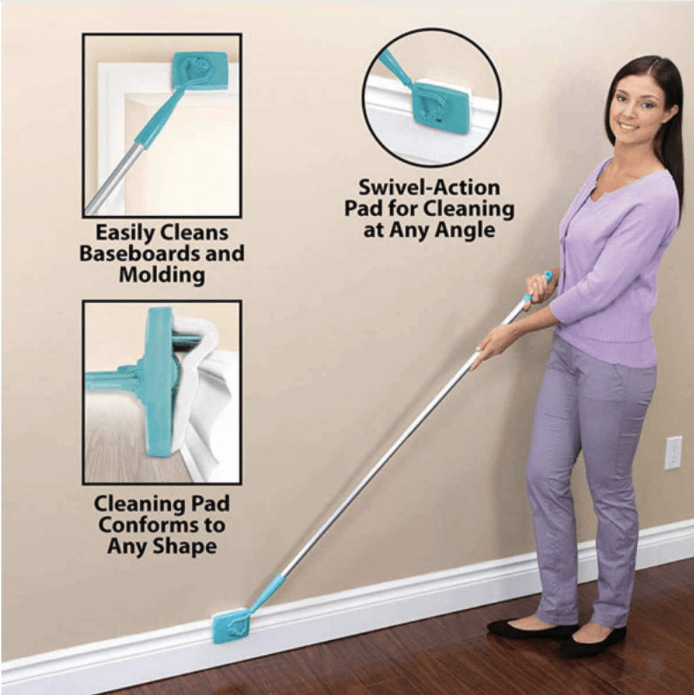 Extendable Baseboard Duster - 360 Degree Swivel Action Head