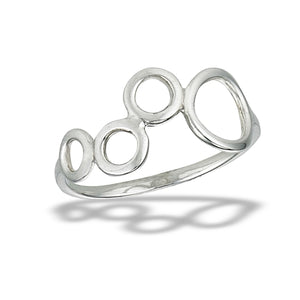 Sterling Silver Multi Circle Open Circle Ring