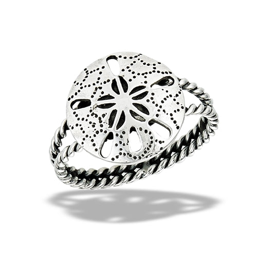 Sterling Silver Large Sand Dollar Ring