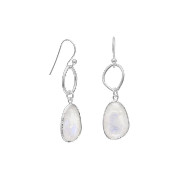 Sterling Silver Elegant Moonstone Earrings