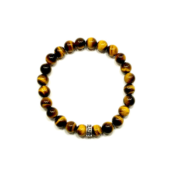 Greek Key Tiger Eye Bracelet