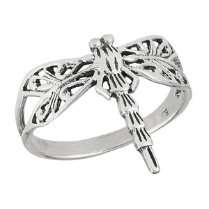 Sterling Silver Dragonfly Ring