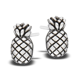Sterling Silver Pineapple Studs