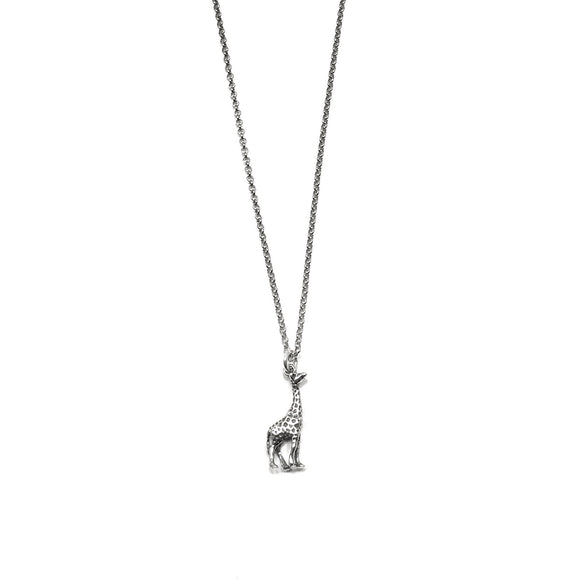 Sterling Silver Giraffe Necklace