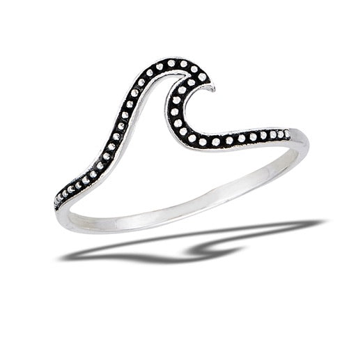 Sterling Silver Dot Wave Ring