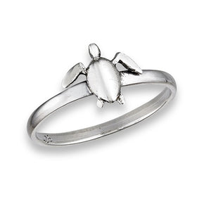 Sterling Silver Small Sea Turtle Ring