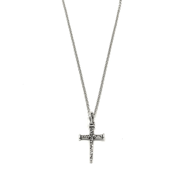 Sterling Silver Nail Cross Necklace