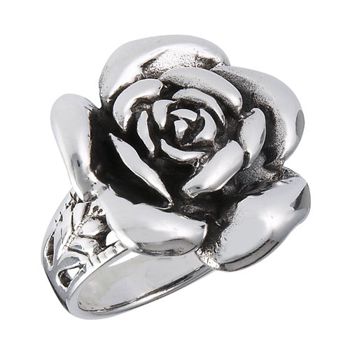 Sterling Silver Chunky Rose Ring