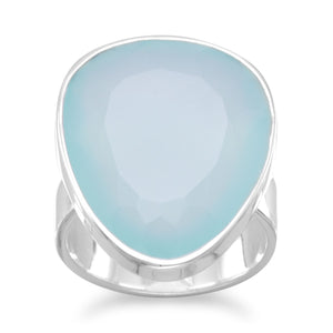 Sterling Silver Freeform Chalcedony Ring