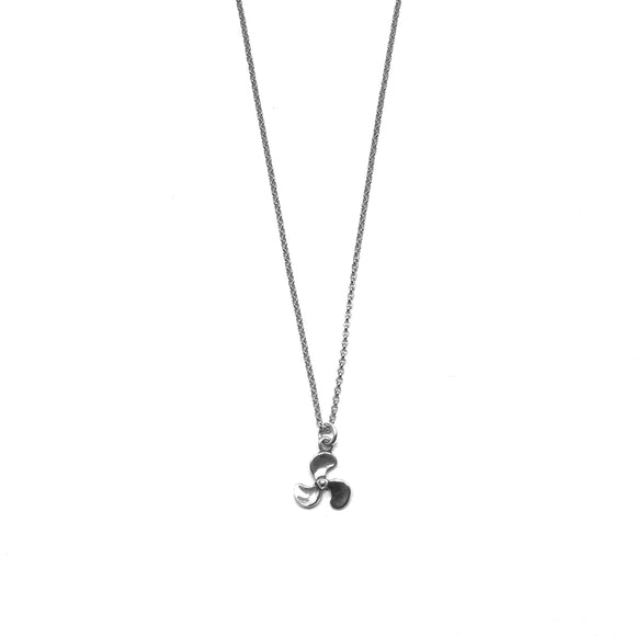 Sterling Silver Propeller Necklace