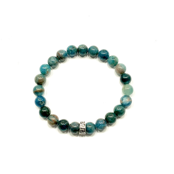 Greek Key Apatite Bracelet
