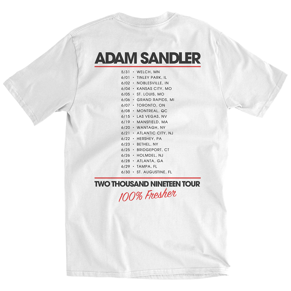 100% Fresher 2019 White Tour Tee