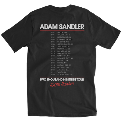 100% Fresher 2019 Black Tour Tee