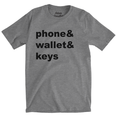 Phone Wallet Keys Tee