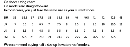 ON shoes size guide